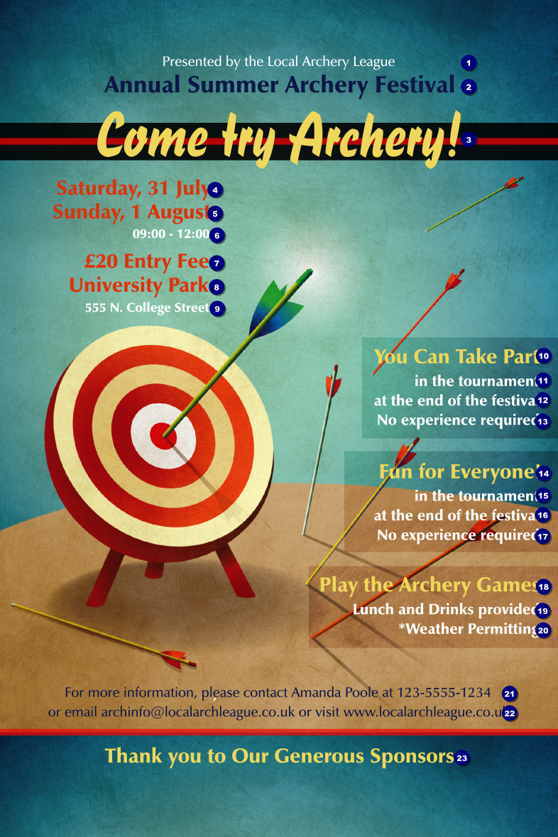 Archery Poster - Ticket Printing