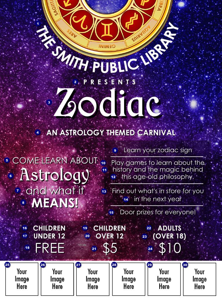 astrology logo flyer