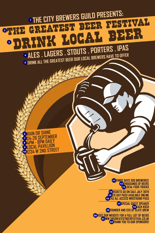 beer festival artisan poster