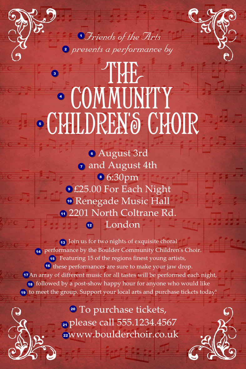 Choir Poster - Ticket Printing: https://www.ukticketprinting.co.uk/Posters-and-Flyers/Details/Choir...
