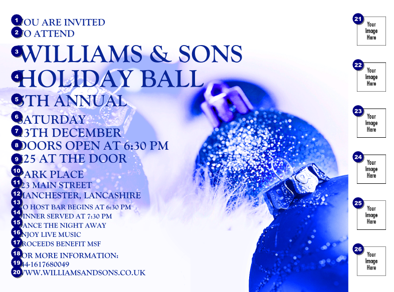 Christmas Ball Blue Flyer