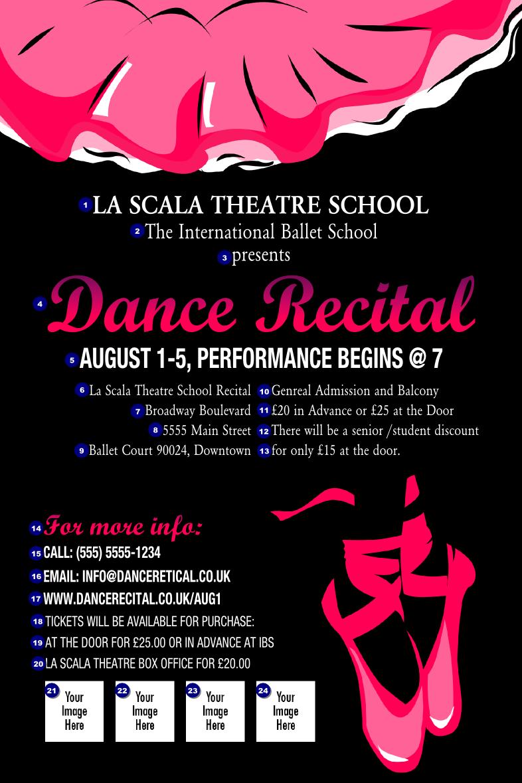 Dance Recital Poster - Ticket Printing