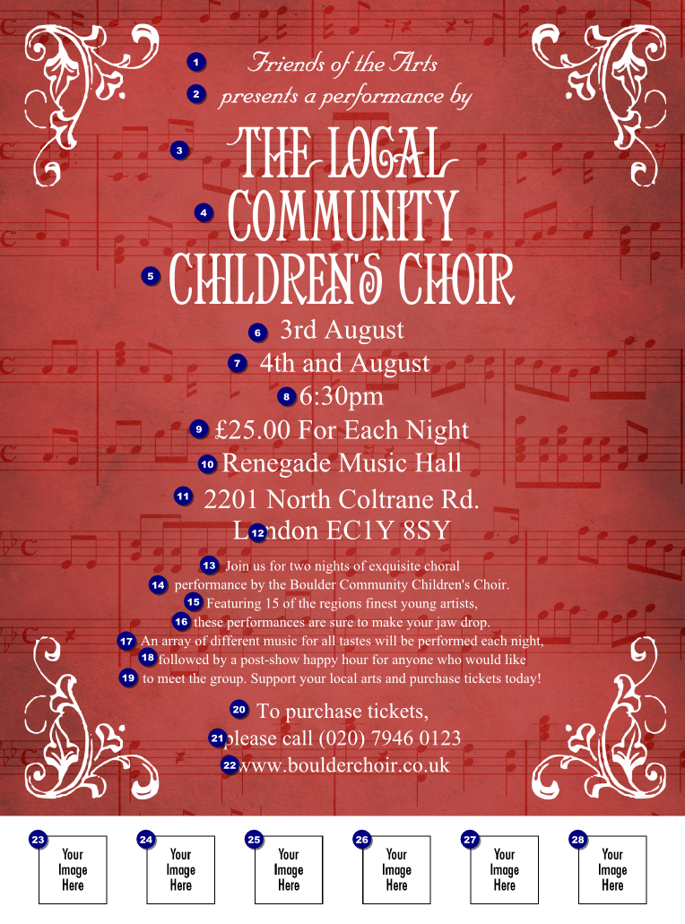 Tune Up Coupons >> Choir Flyer - Ticket Printing