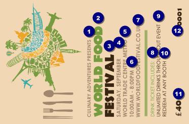 Food festival drink ticket