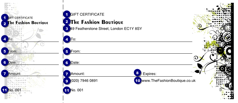 Fashion show gift certificate ticket printing for Fashion show ticket template