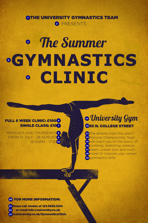 Gymnastics Poster Ticket Printing