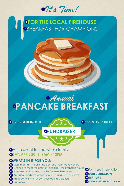 Pancake Breakfast Poster Ticket Printing