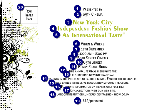 Fashion show invitation ticket printing for Fashion show ticket template