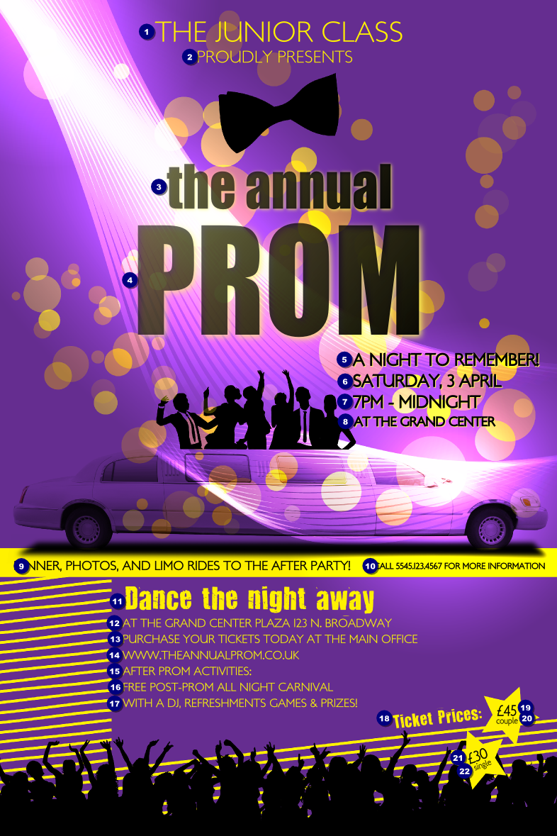 Prom Limo Poster Ticket Printing
