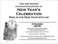 hogmanay invitation template.