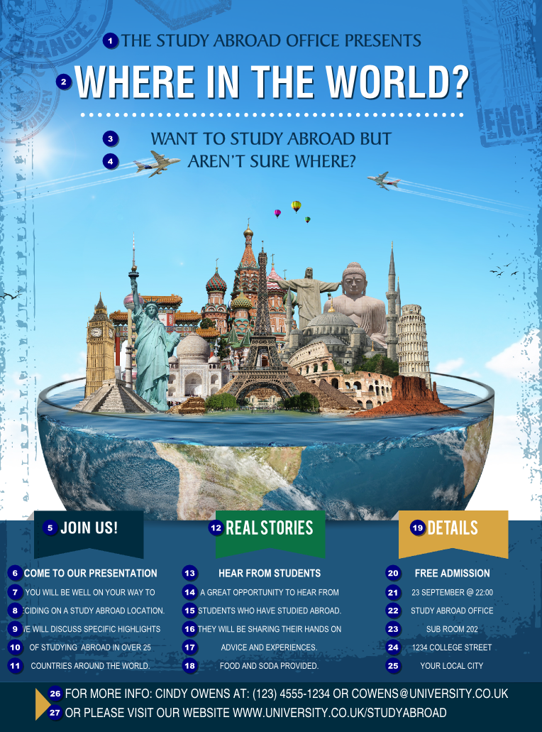 world travel flyer