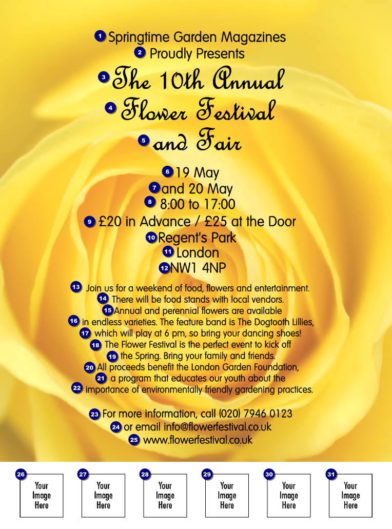 Yellow Rose Flyer