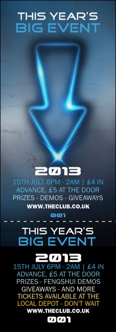 Night Club Neon Event Ticket Product Front