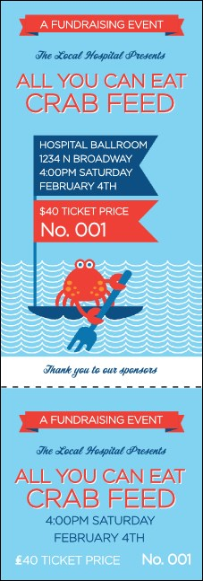 Crab Feed Event Ticket
