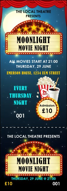 Movie Night Event Ticket Product Front