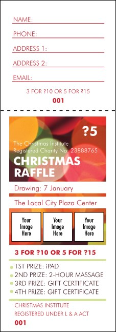 Holiday Lights Raffle Ticket
