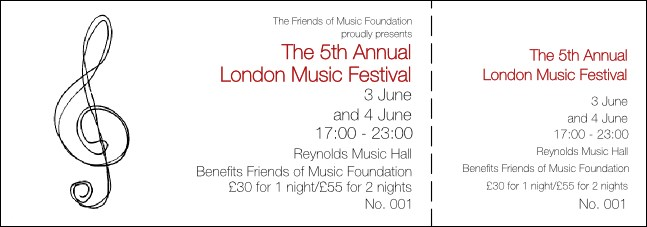 Music Festival 1 General Admission Ticket