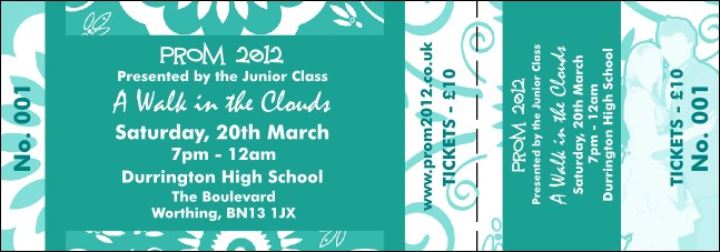 turquoise prom general admission ticket