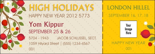 High Holidays Yom Kippur Event Ticket 1