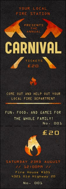 Fire Department Event Ticket