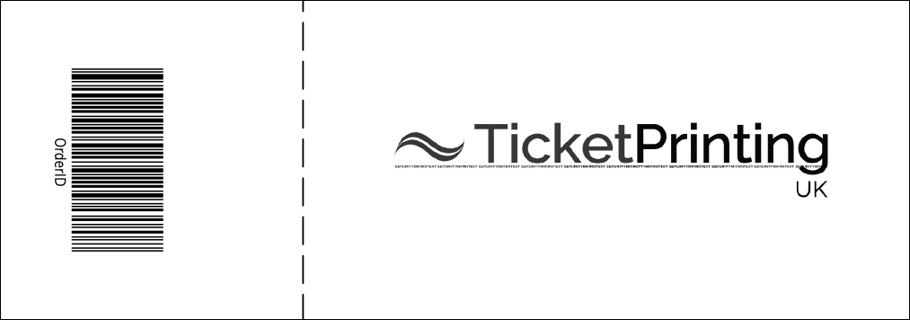 Abstract Event Ticket Product Back