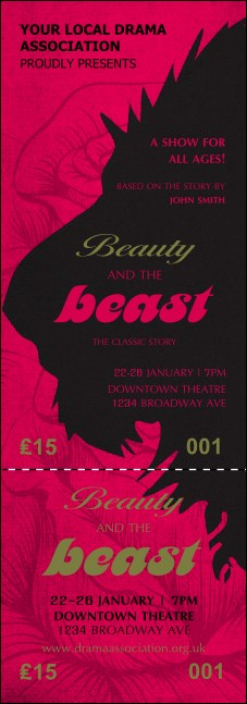 Beauty and the Beast Event Ticket