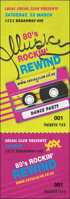 80s Music Event Ticket