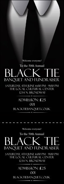 Black Tie Event Ticket