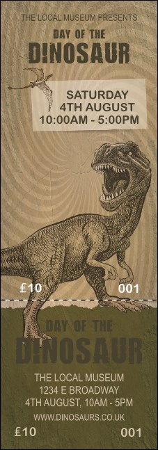 Dinosaur Illustrated Event Ticket