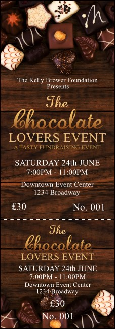 Chocolate Event Ticket