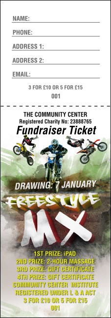 Freestyle MX Raffle Ticket