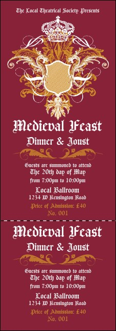 Medieval Banquet Event Ticket