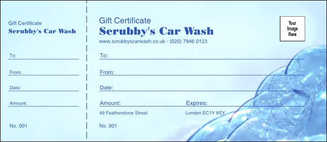 Bubble Gift Certificate 002