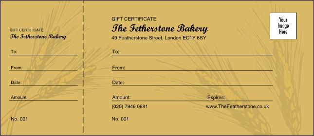 Wheat Gift Certificate 002