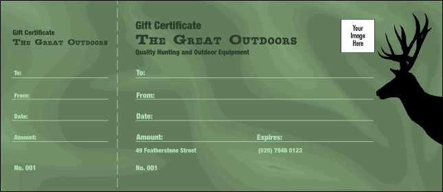 Great Outdoors Gift Certificate