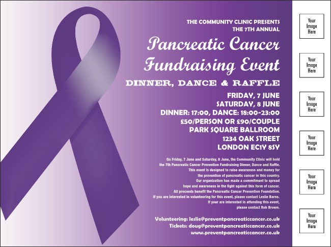Purple Ribbon Flyer