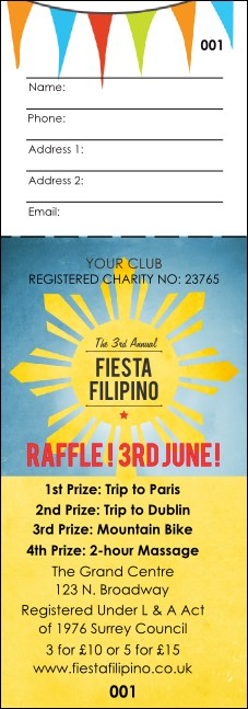 Filipino Fiesta Raffle Ticket
