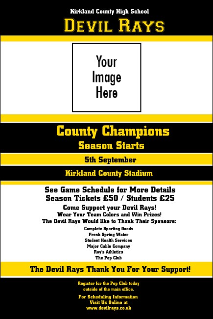 Sports Poster 001 in Black and Yellow