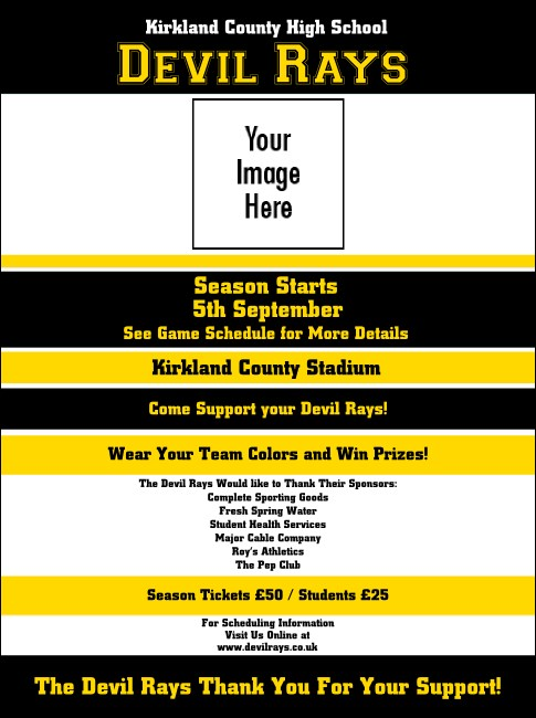Sports Flyer 001 in Black and Yellow