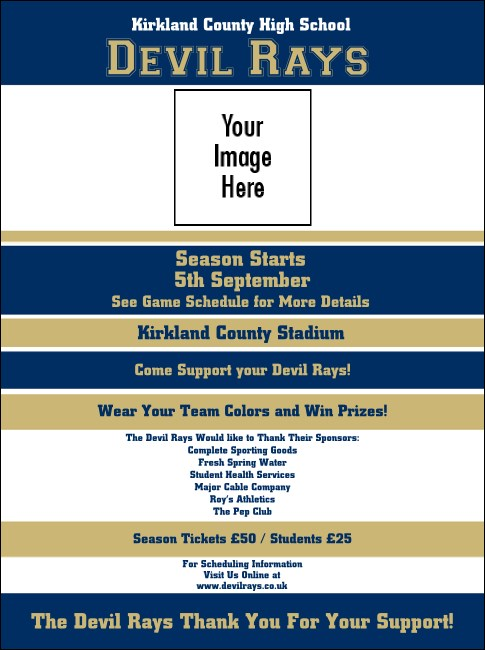 Sports Flyer 001 in Blue and Gold