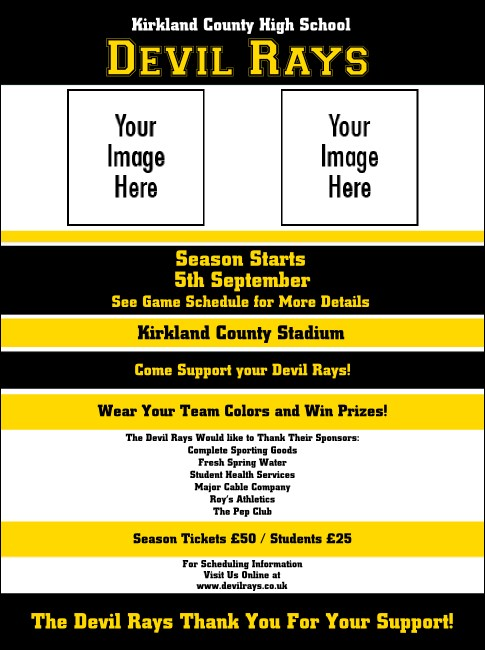 Sports Flyer 002 in Black and Yellow