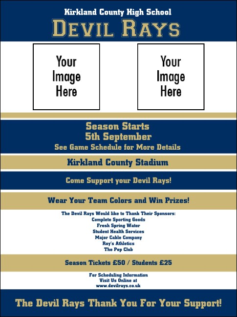 Sports Flyer 002 in Blue and Gold