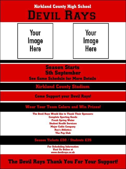 Sports Flyer 002 in Red and Black