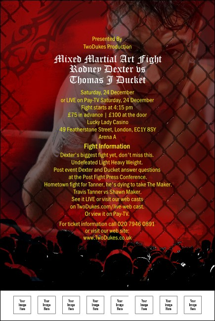 Mixed Martial Arts Red Poster