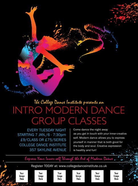Modern Dance Black Logo Flyer