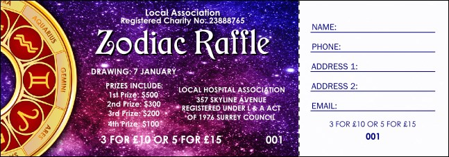 Astrology Raffle Ticket
