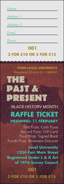 Africa Raffle Ticket Product Front