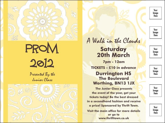 Yellow Prom Flyer