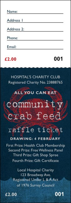 Crab Dinner Raffle Ticket