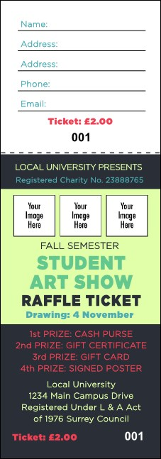 Image Upload Raffle Ticket Product Front